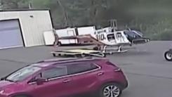 [영상] 이륙과 동시에...산산조각 난 '경찰 헬리콥터'