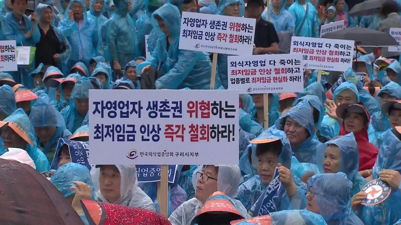 """전국 소상공인 대규모 집회 """"최저임금 개선해야"""""""