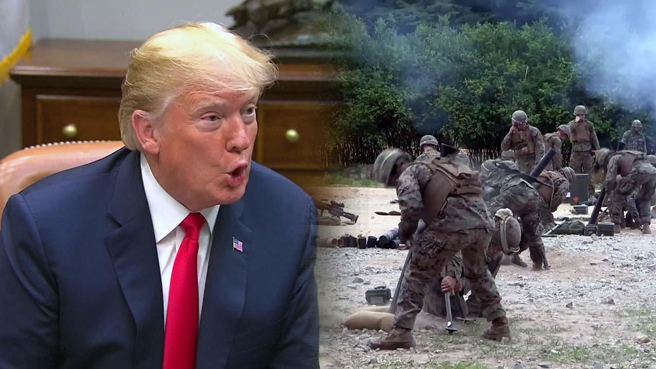 """[취재N팩트] 트럼프 """"한미훈련 할 이유 없어""""...강온양면 전략? 혼선?"""