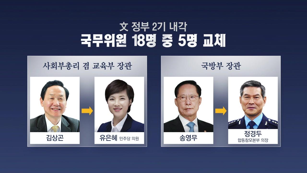 文 정부 5개 부처 개각...첫 50대 여성 부총리 나올까?