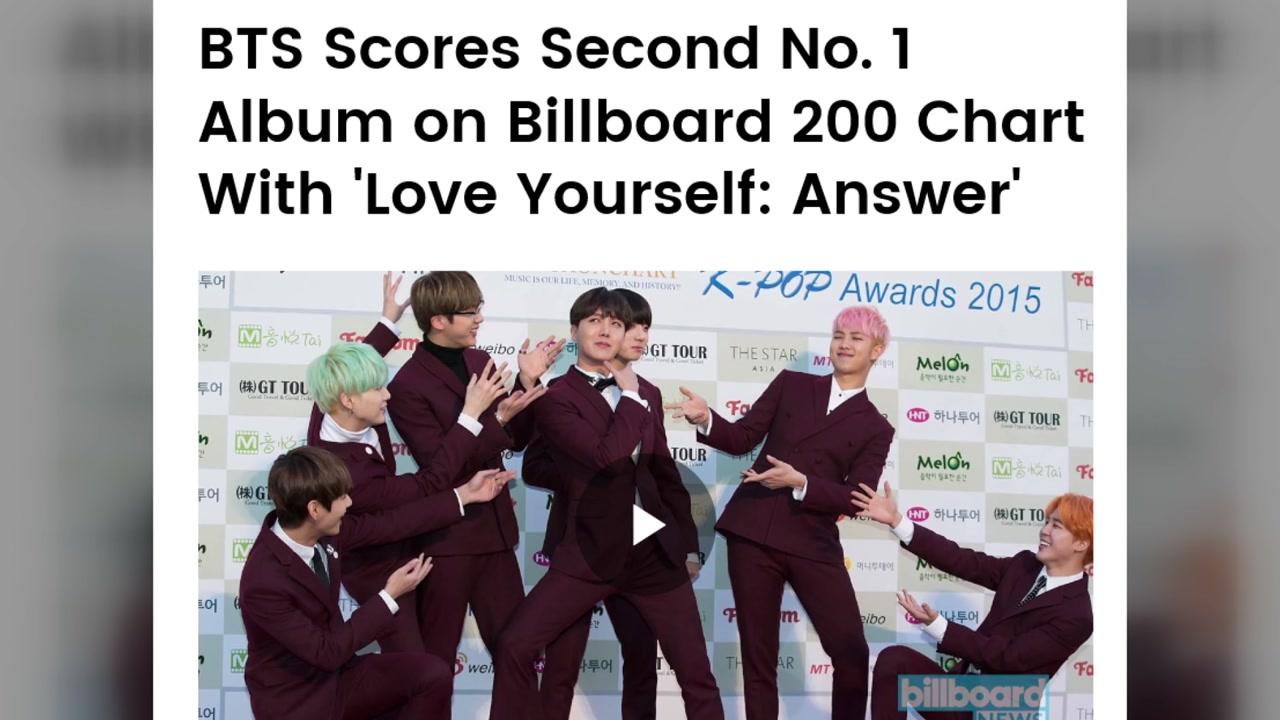 방탄소년단, '빌보드 200' 두 번째 1위...한국 최초 기록