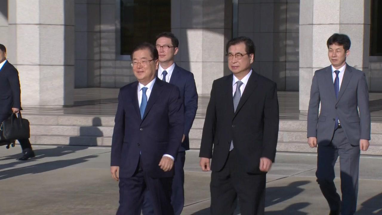 정의용 등 대북특사단 5인, 당일치기 평양행