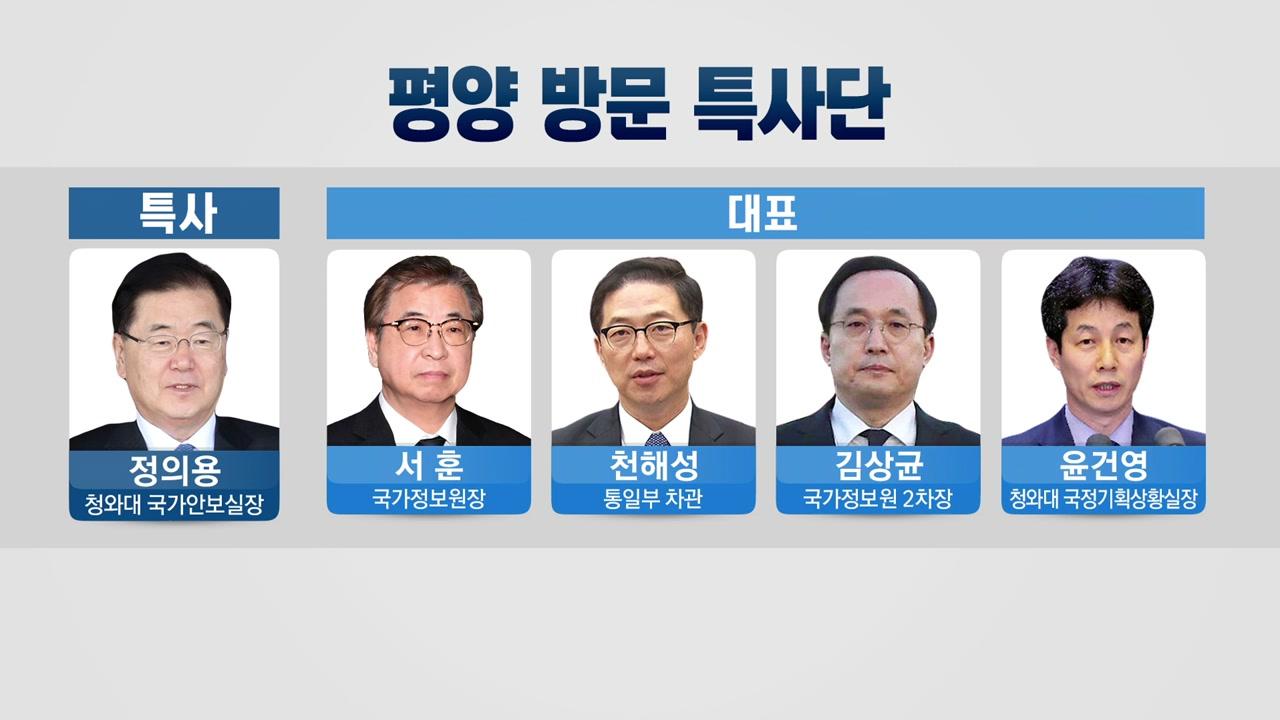 특사단, 북측과 회담 시작...김정은 위원장 만날까