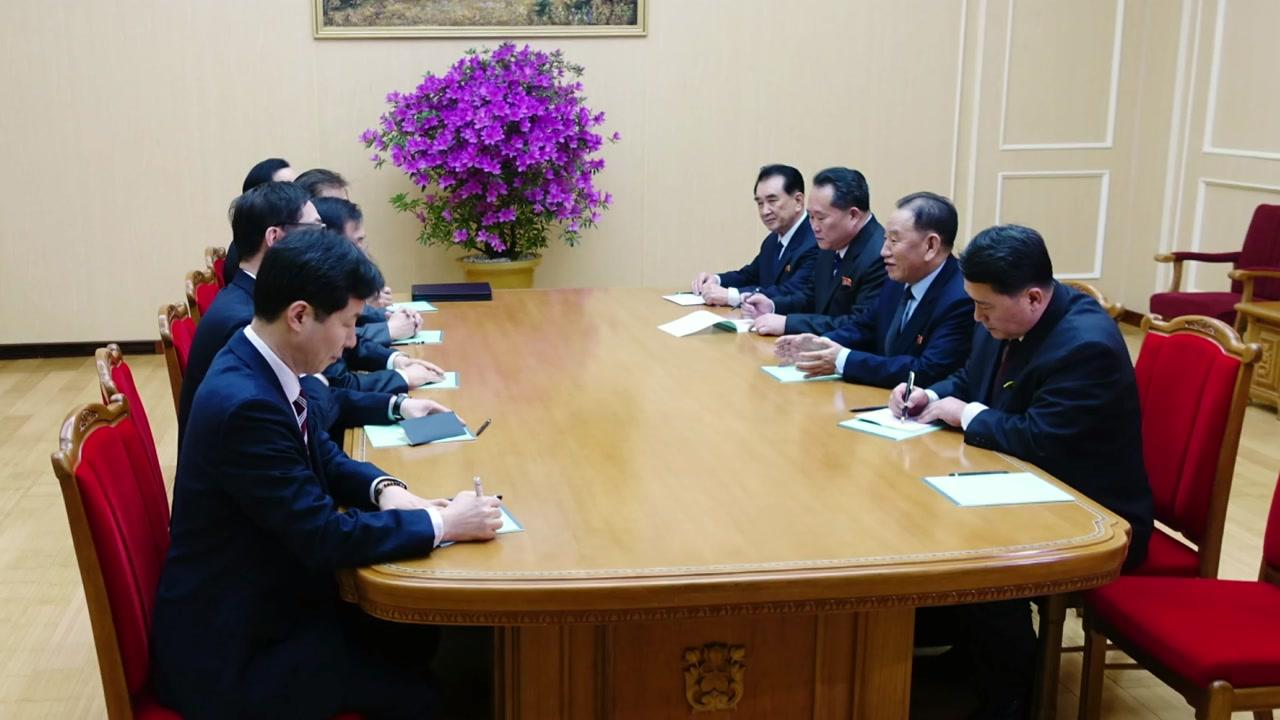 특사단, 북측과 공식 면담 중...김정은 면담 여부 주목