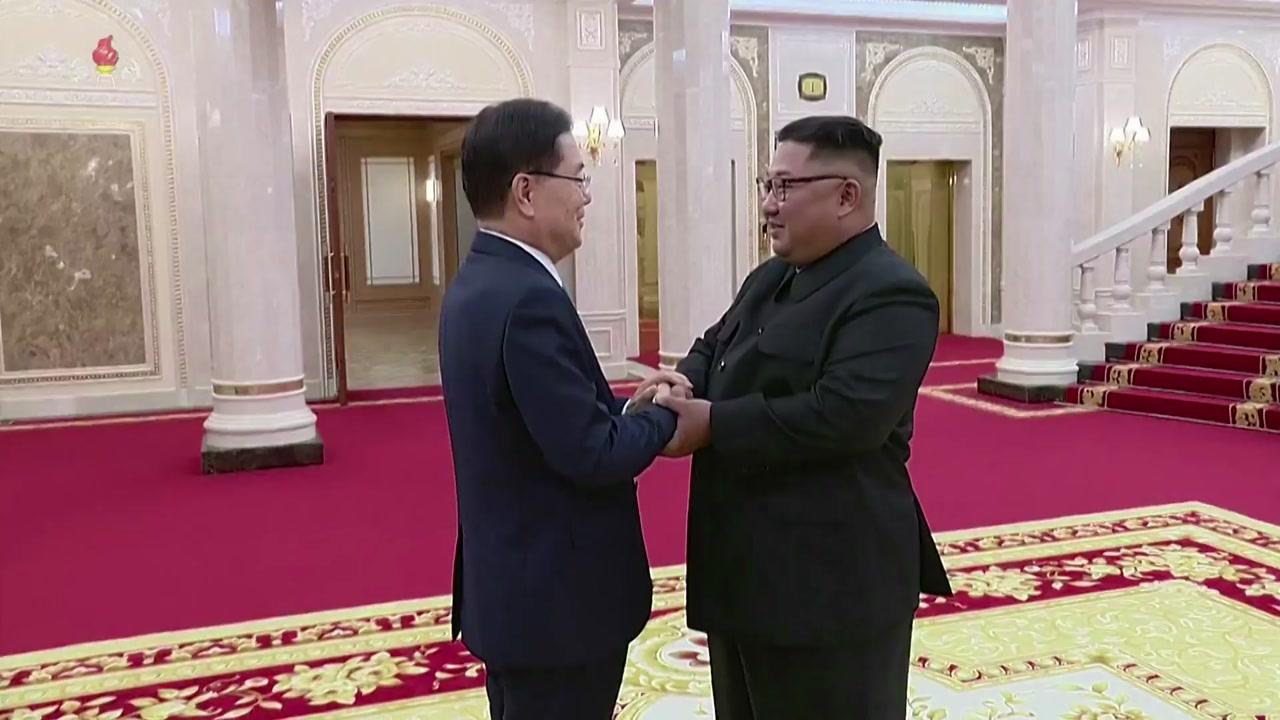 [영상] 北 조선중앙TV, 특사단 방문 보도