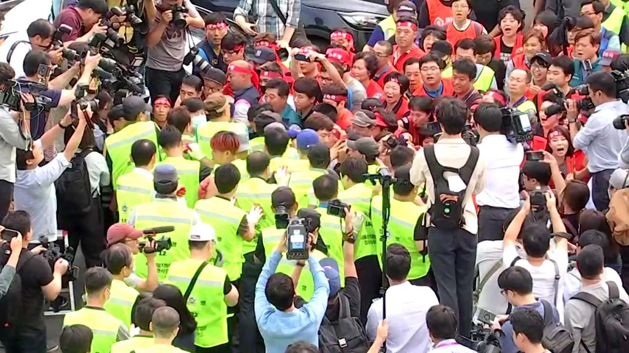 구 노량진 수산시장 세 번째 강제집행...또다시 무산