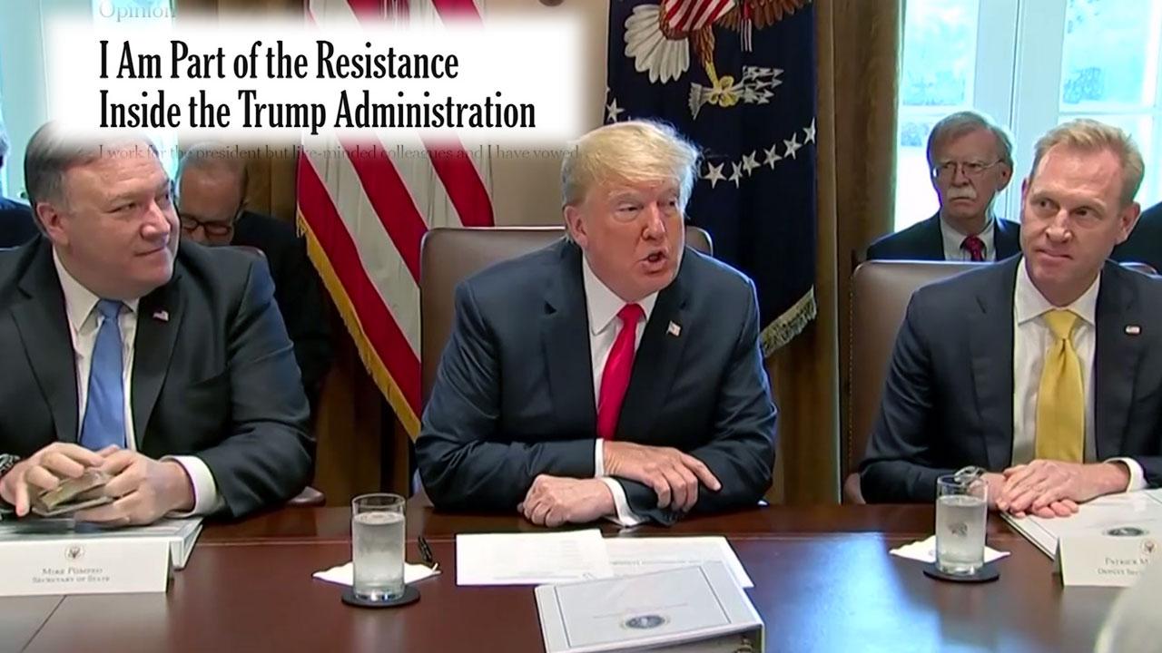 """익명 기고로 살벌해진 백악관... 부통령·국무장관 """"나는 아니야!"""""""