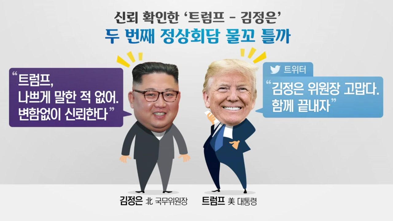 """김정은, 비핵화 첫 시한 제시...""""트럼프 첫 임기 내"""""""