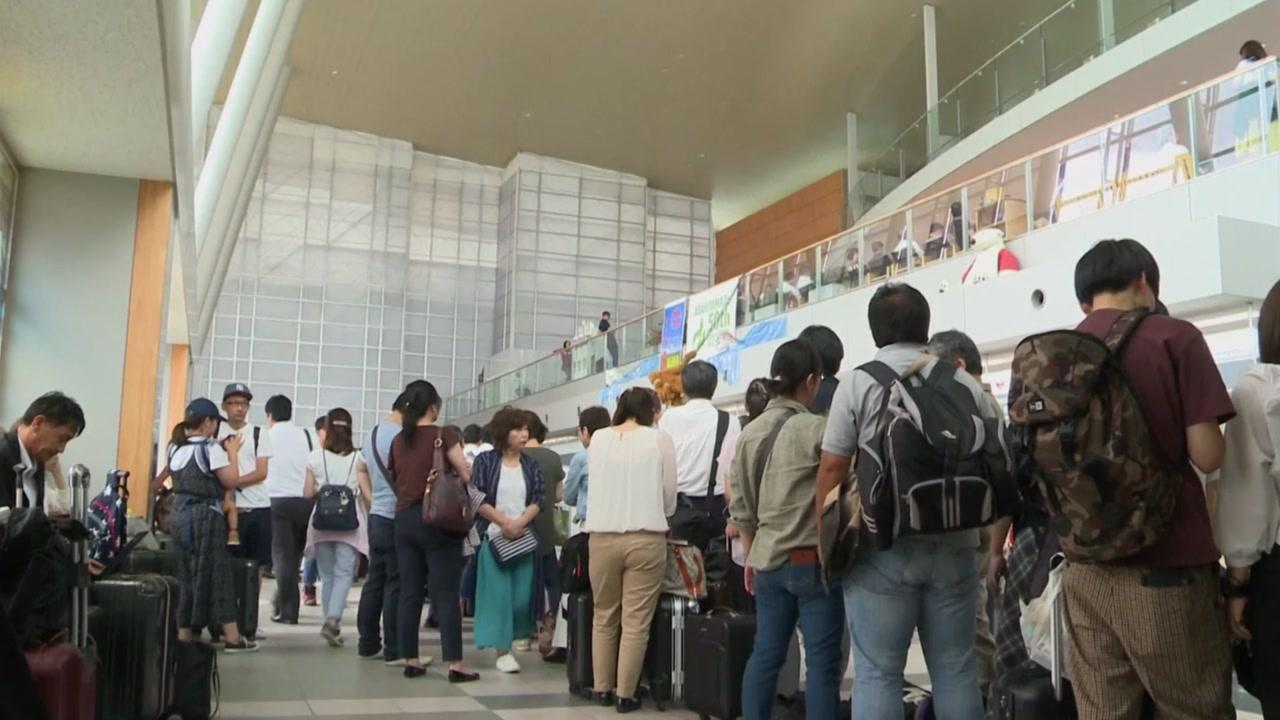 홋카이도 관광객 3백여 명 귀국...오늘부터 정상 운항