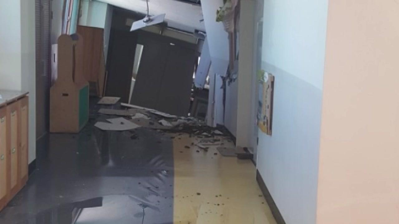 붕괴 사고 상도유치원, 처참한 전쟁터 같은 내부 사진