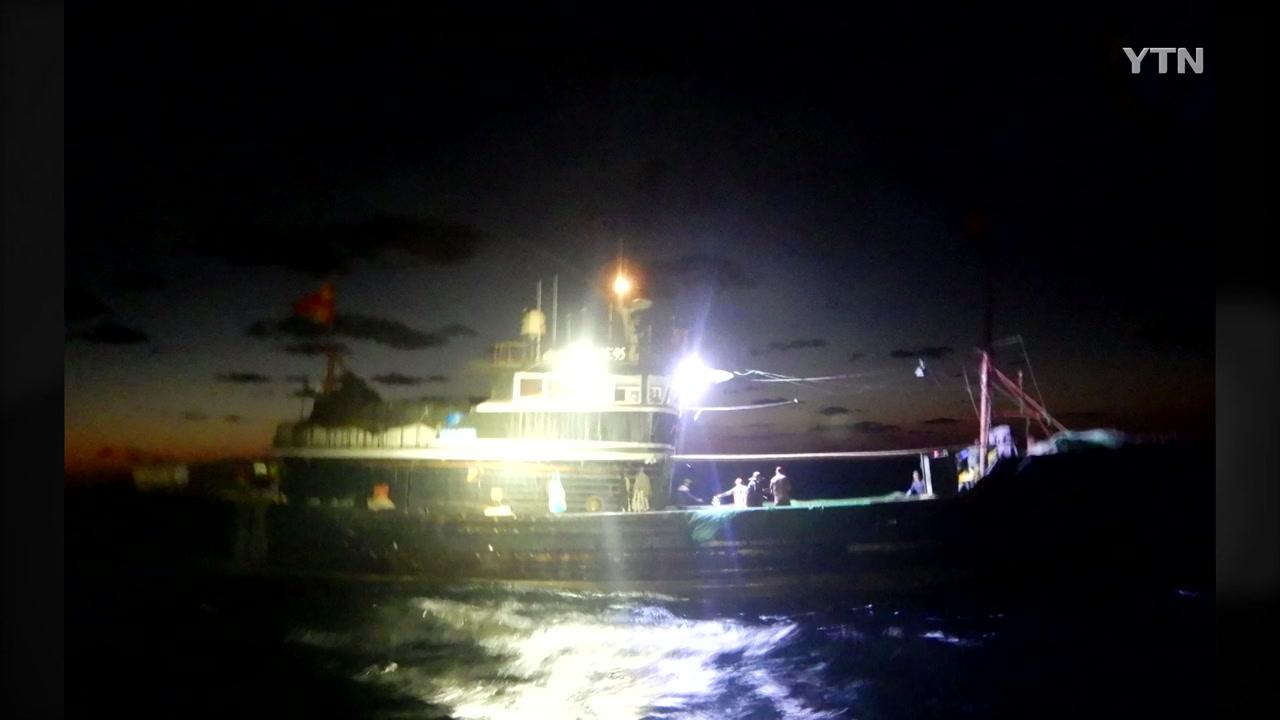 서해서 오징어 불법조업 中 어선 또 적발