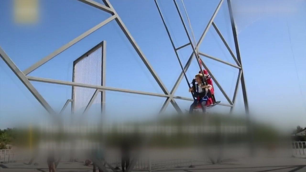 '아찔한 체험'...320m 높이 절벽에서 타는 그네