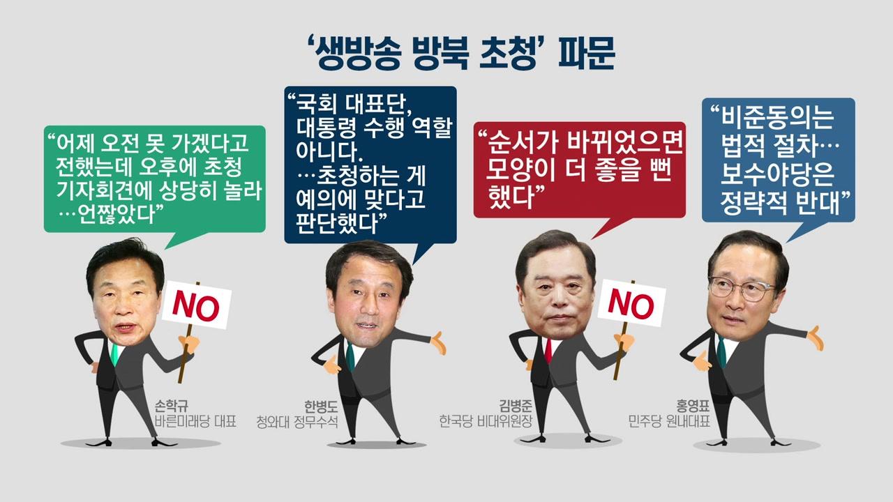 靑 '평양 초청장'에 싸늘한 반응...왜?
