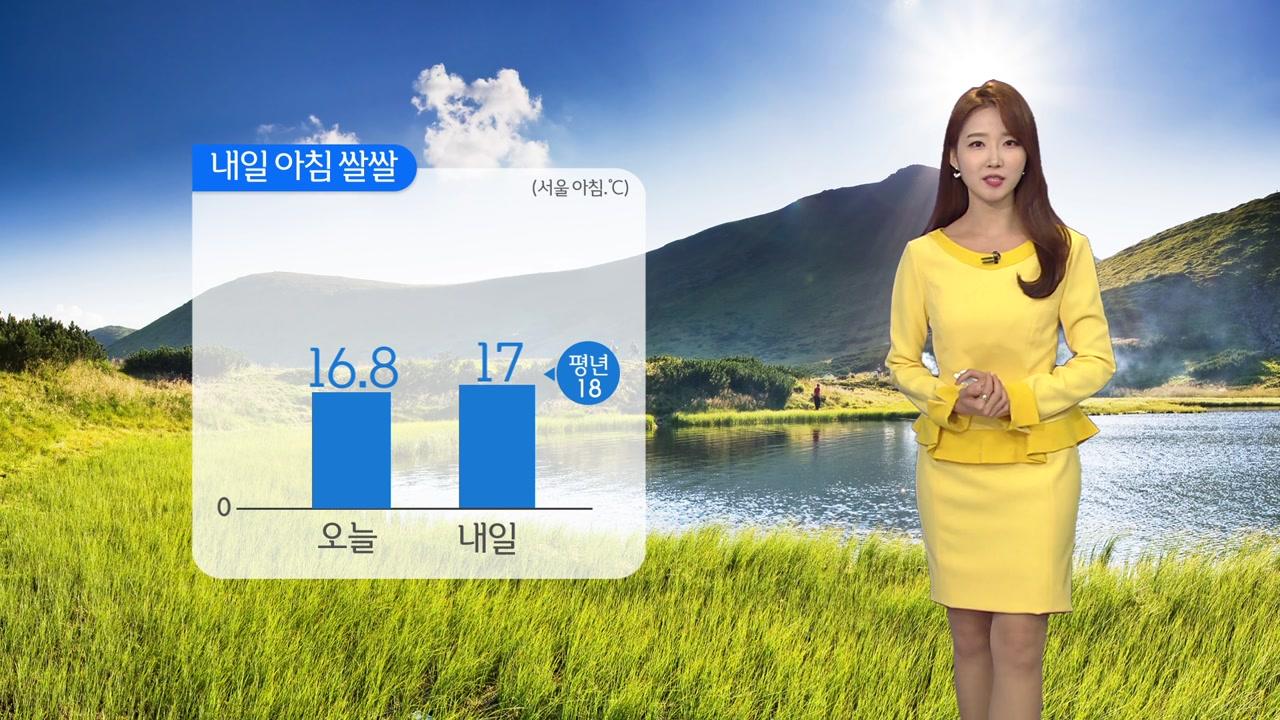 [날씨] 내일 내륙 쾌청, 큰 일교차...제주·영남 해안 약한 비