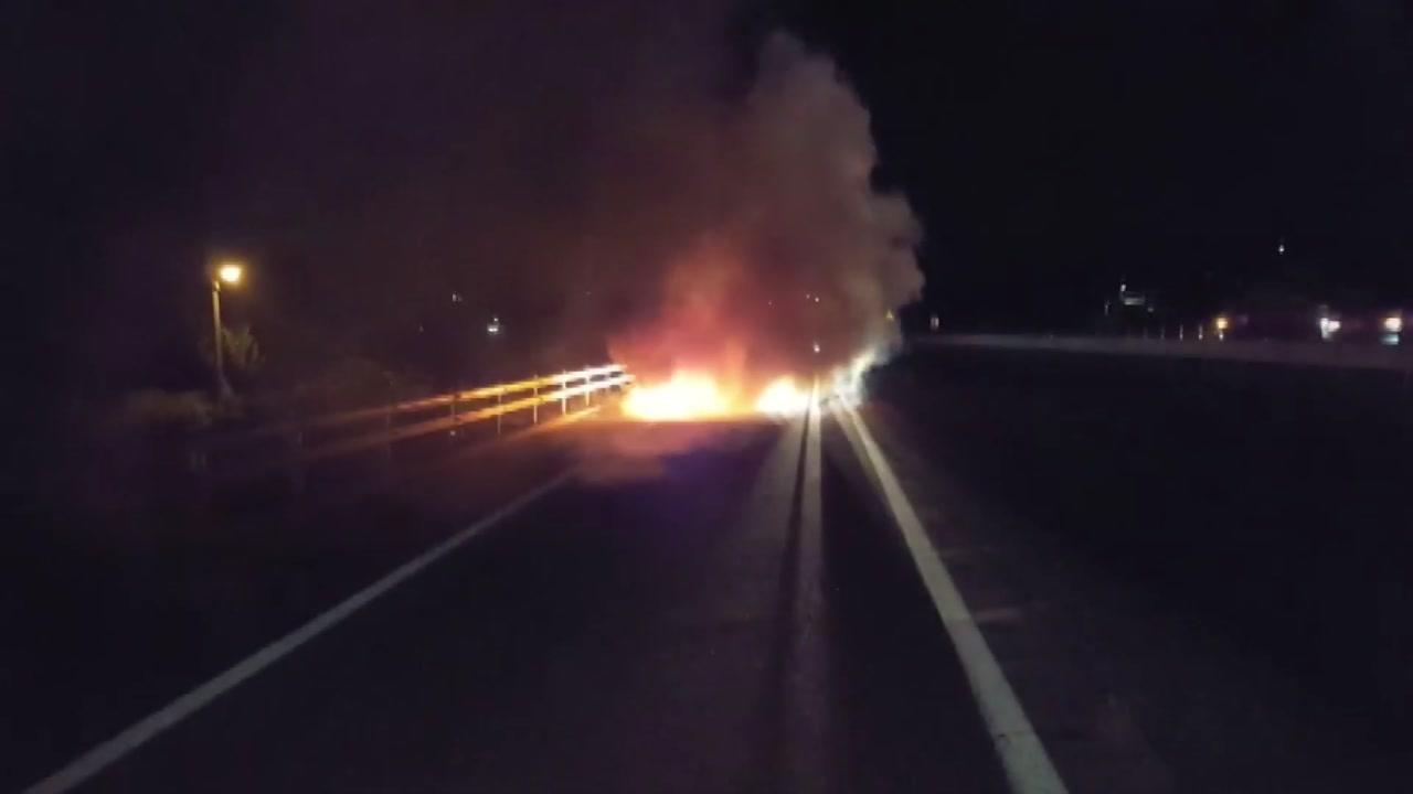 충북 음성서 BMW 차량 화재
