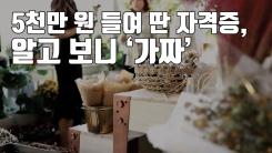 [자막뉴스] 5천만 원 들여 딴 자격증, 알고 보니 '가짜'