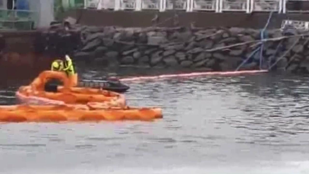 여수 신 북항 건설 현장서 21t 예인선 침몰
