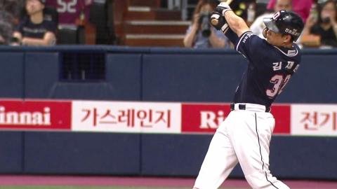김재환 42호 홈런…두산 구단 타이 기록