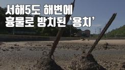 [자막뉴스] 서해5도 해변에 흉물로 방치된 '용치'