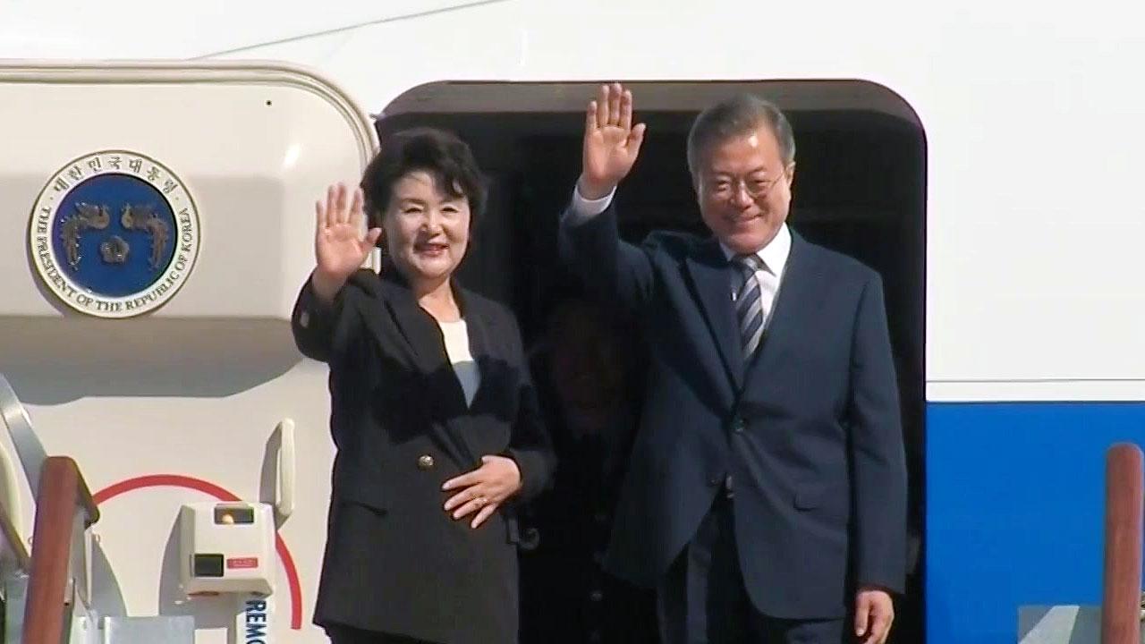 """문재인 대통령, 내일 한미정상회담...""""평화 자리잡게 할 것"""""""