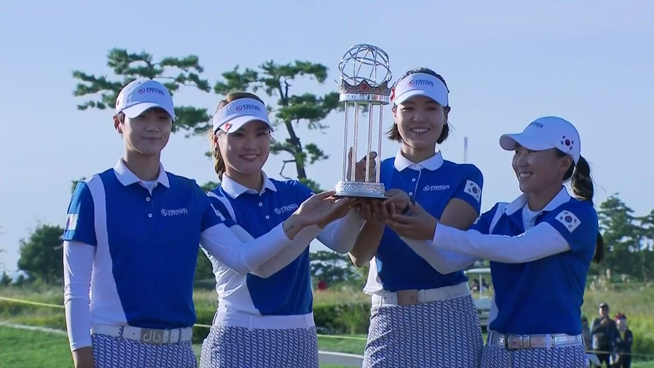 한국 여자골프, 세계최강 입증...인터내셔널 크라운 첫 우승