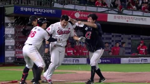 연장 11회 혈투 승리...롯데, 5위 KIA와 승차 '0'