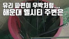 [자막뉴스] 유리 파편이 우박처럼...해운대 엘시티 주변 상황