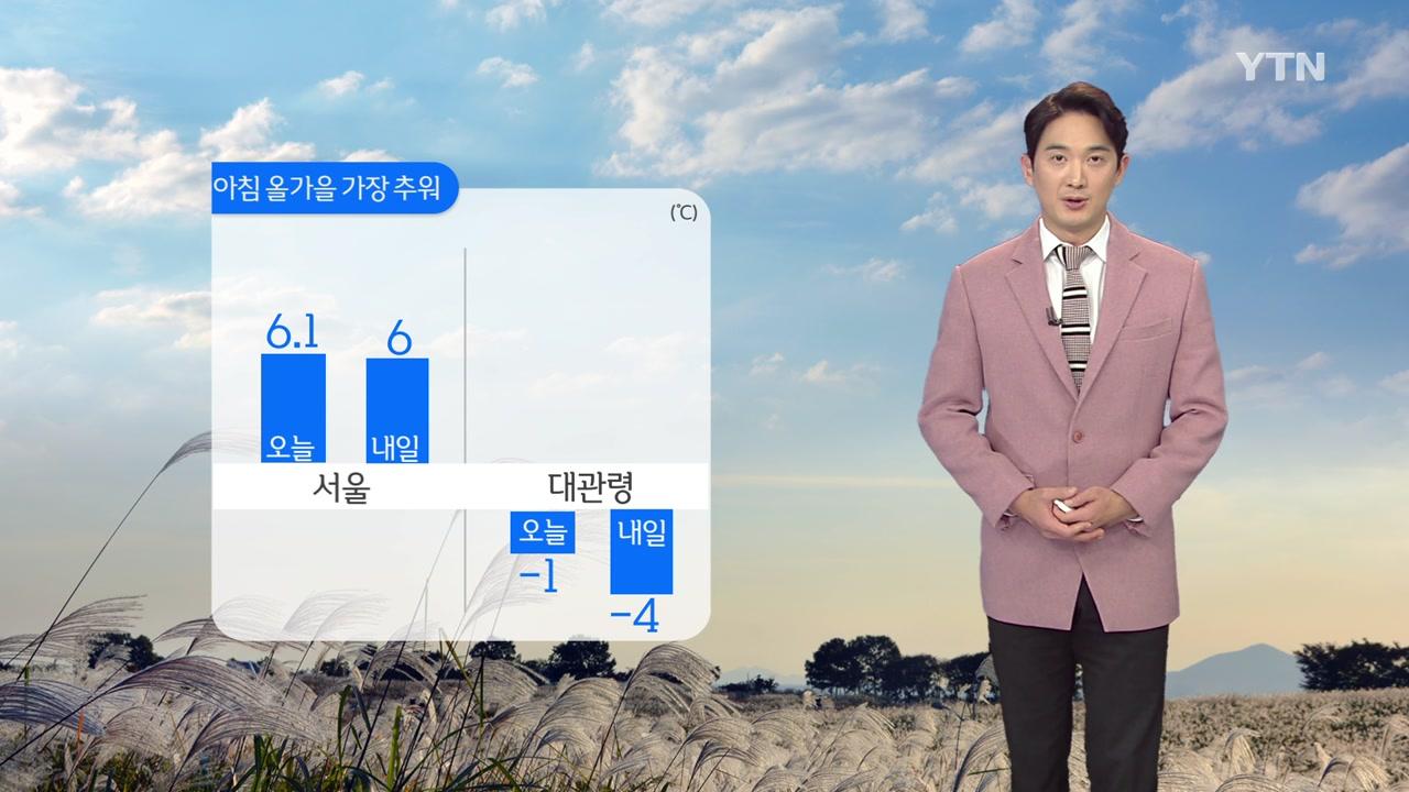 [날씨] 내일 전국 맑지만 출근길 더 추워...곳곳 서리·안개