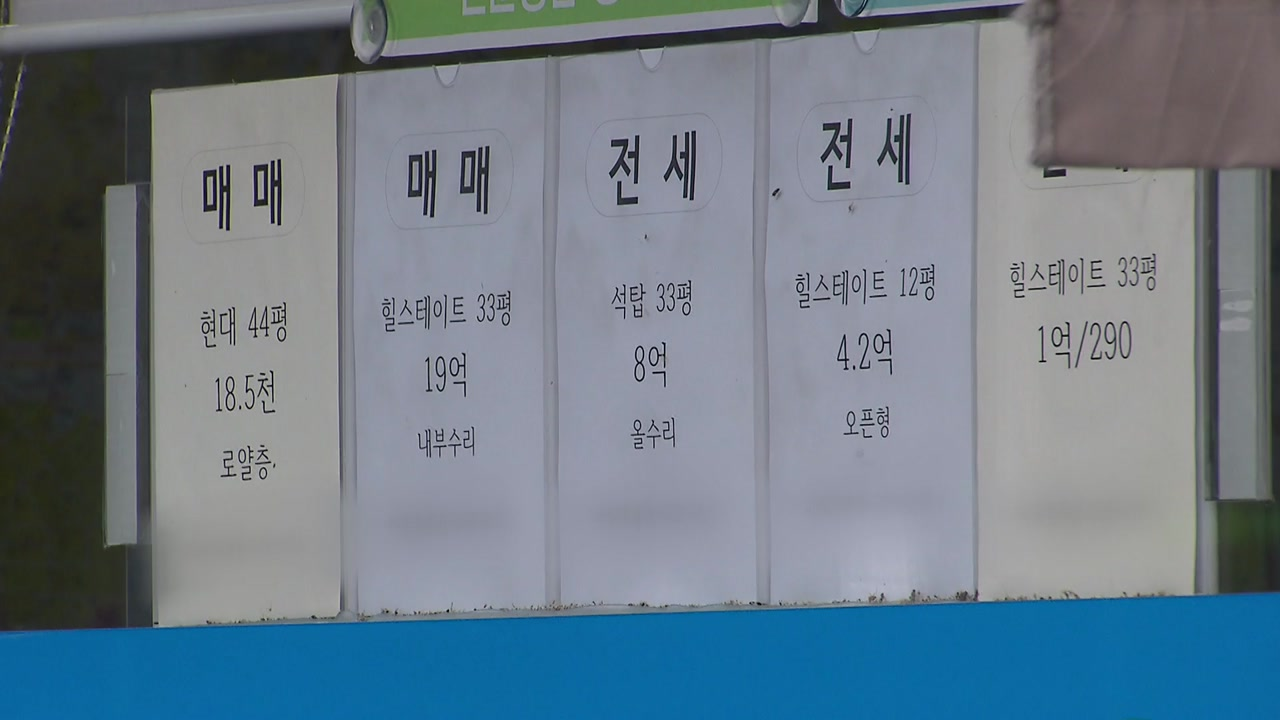 전방위 부동산 대책에 상승세 주춤...'거래 절벽'