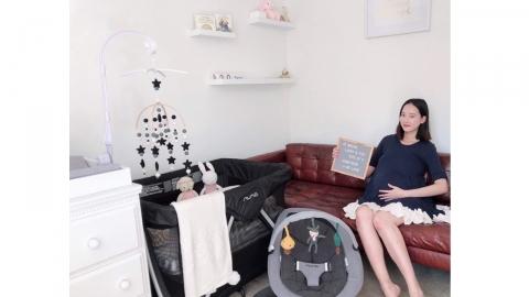 '임신 9개월' 모델 혜박, 직접 꾸민 아기방 공개