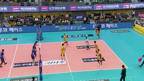 대한항공, KB손해보험 꺾고 시즌 첫 승