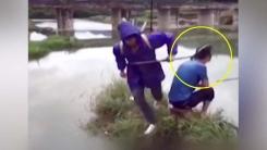 [영상] '물고기 잡으려다 사람 잡네'