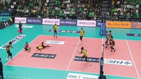 '요스바니 35점' OK저축은행 3연승