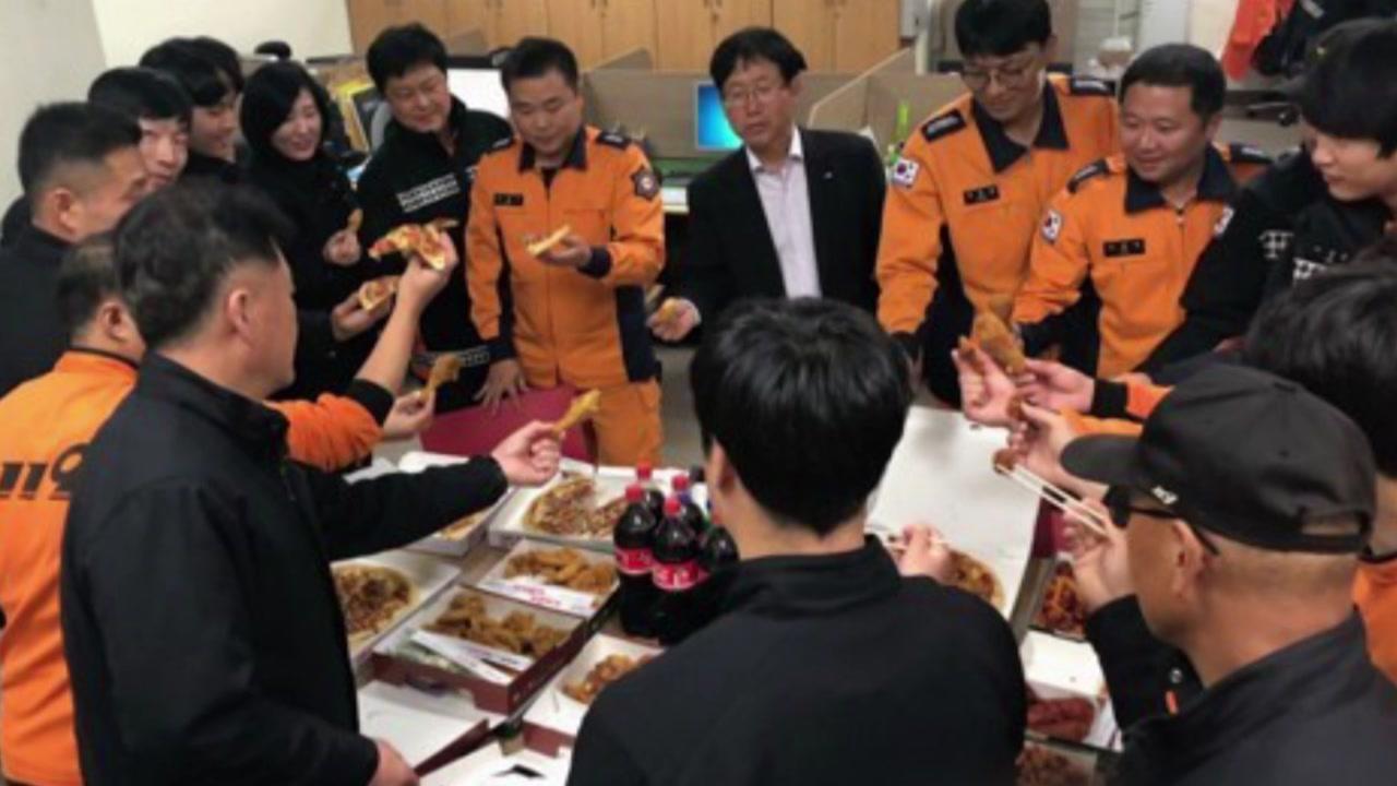[좋은뉴스] 소방관들에게 치킨·피자 선물한 시민들