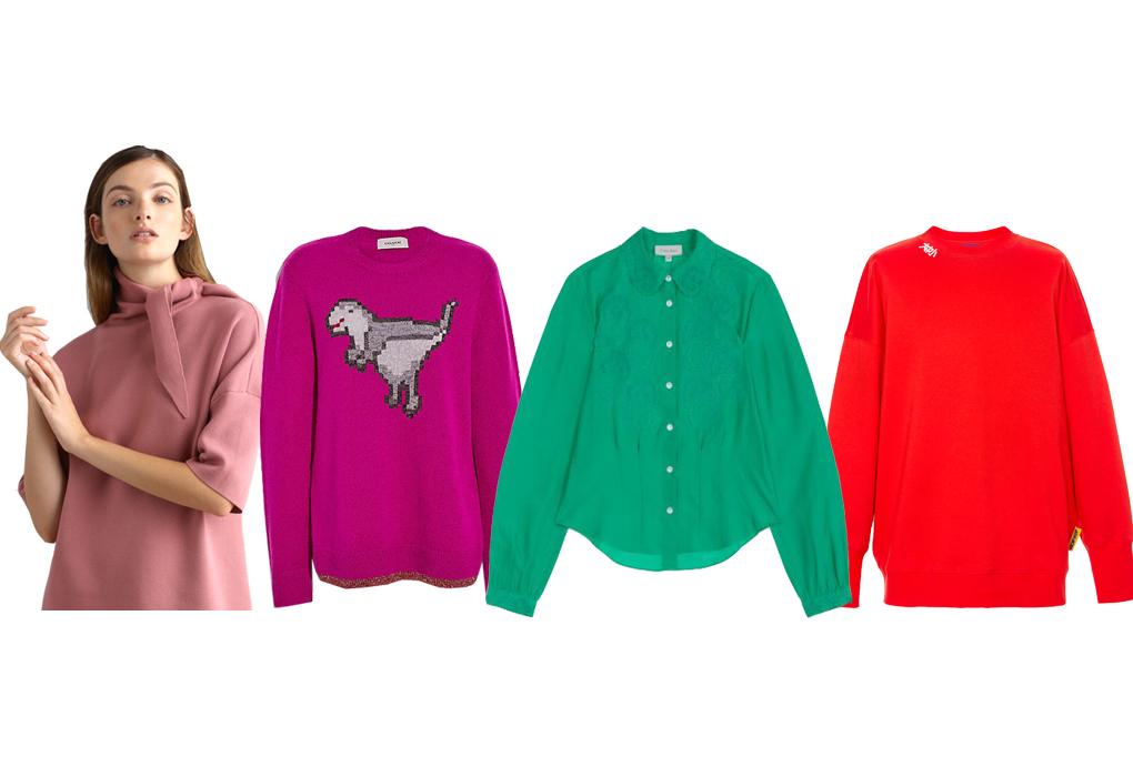 칙칙한 무채색 겨울 패션, 컬러 포인트로 화사하게!