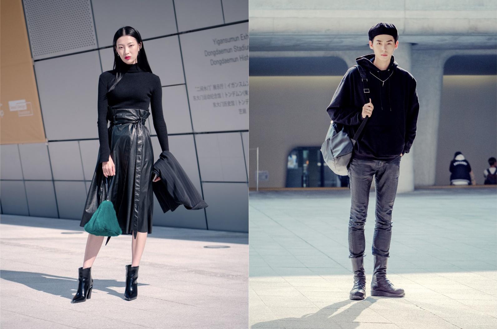 김명진-남궁담, 올 블랙 룩은 항상 옳다!