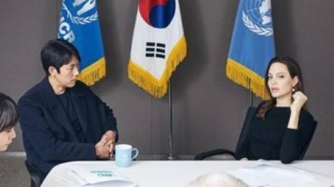 """정우성 """"안젤리나 졸리, 난민 이슈 악플 알아, 많은 얘기 나눴다"""""""