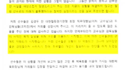 문체부·체육회, 컬링 '팀 킴' 호소문 합동 감사