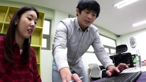 '나혼자' 한혜진, 기안84 작업실 방문...야심찬 새 그림 공개