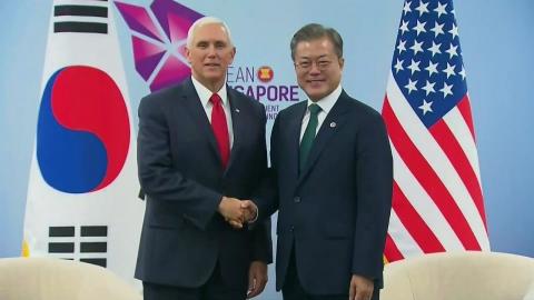 文 대통령-펜스 회담…2차 북미회담 준비 협의