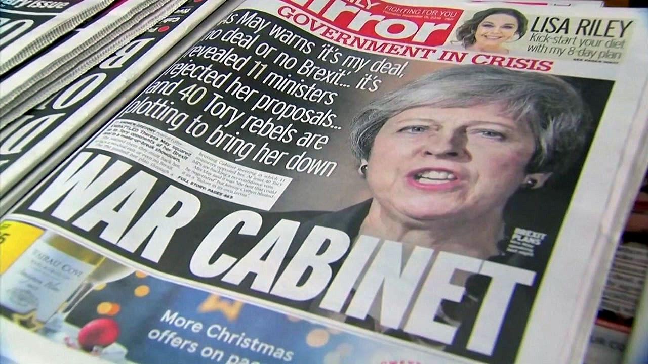브렉시트 합의안에 英 장관들 줄사퇴...의회 승인도 불투명