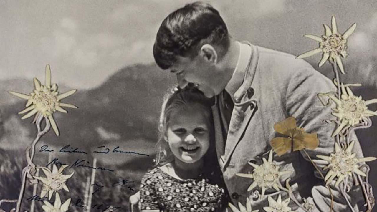 유대인 소녀와 다정한 히틀러 사진 1,300만 원에 낙찰