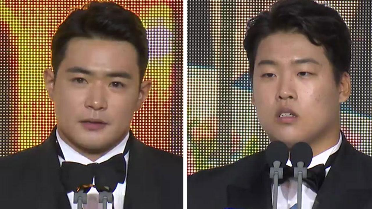 두산 김재환, KBO리그 MVP...KT 강백호, 신인상