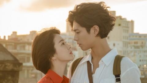송혜교X박보검 떨리는 눈맞춤...'남자친구'