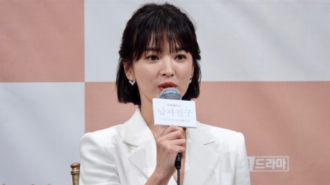 """[Y영상] '남자친구' 송혜교 """"남편 송중기, 열심히하고 지켜보겠다 응원"""""""