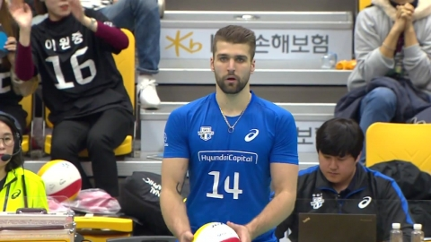 '파다르 29득점' 현대캐피탈, KB손보 격파