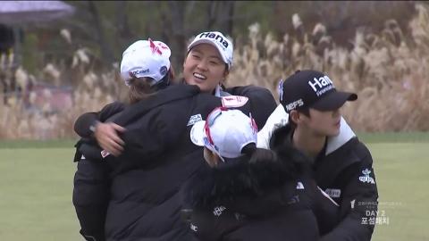 LPGA팀, 챔피언스트로피 2R 3승2무1패 우세