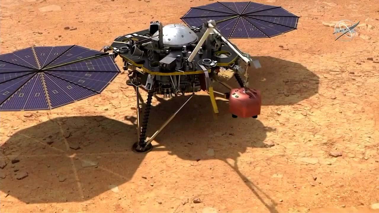 화성탐사선 인사이트,  화성 착륙 성공