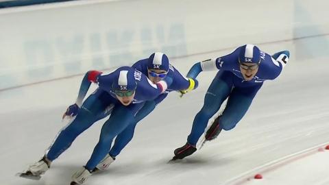 김민석·정재원 등 남자 팀추월, 월드컵 3차 6위