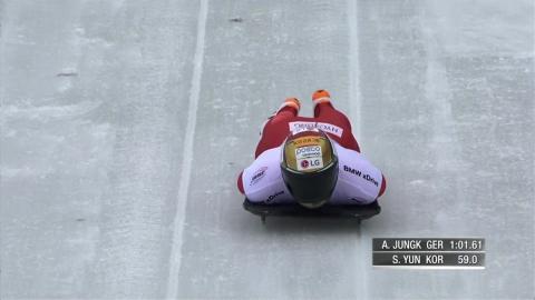 윤성빈, 월드컵 2차 대회 동메달...2대회 연속 3위